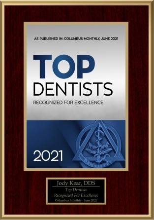 Columbus Monthly Top Dentists 2021 - Recognized for Excellence