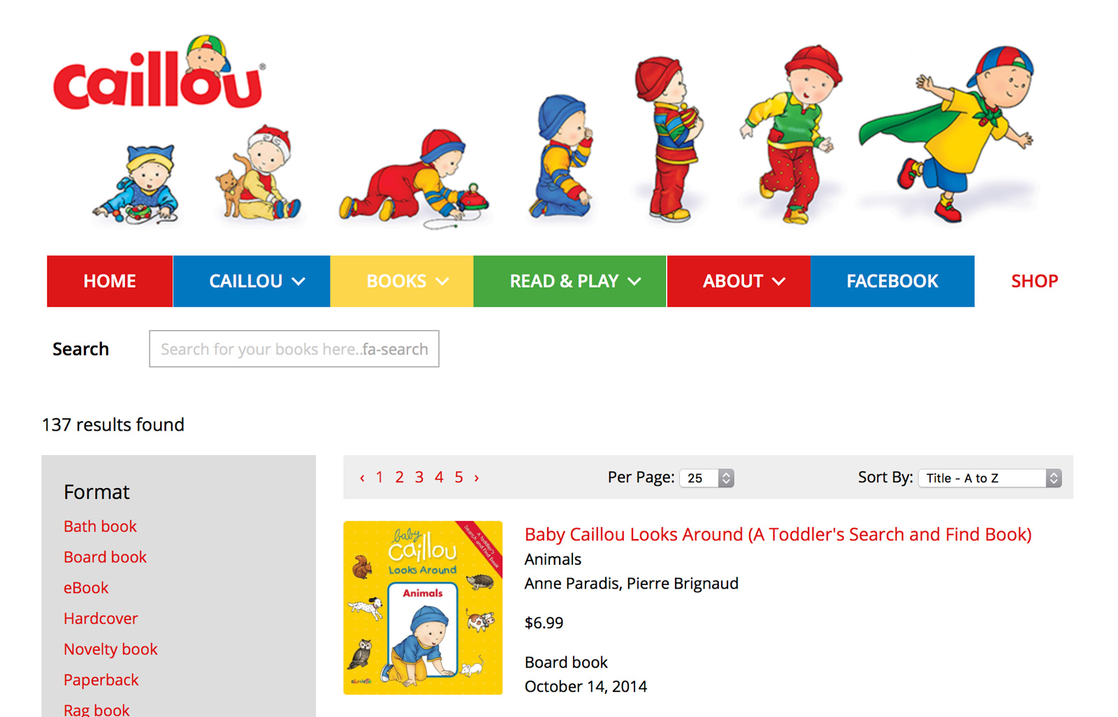 Chouette imprint Caillou launch new website on Supadu platform with Ingram cart integration