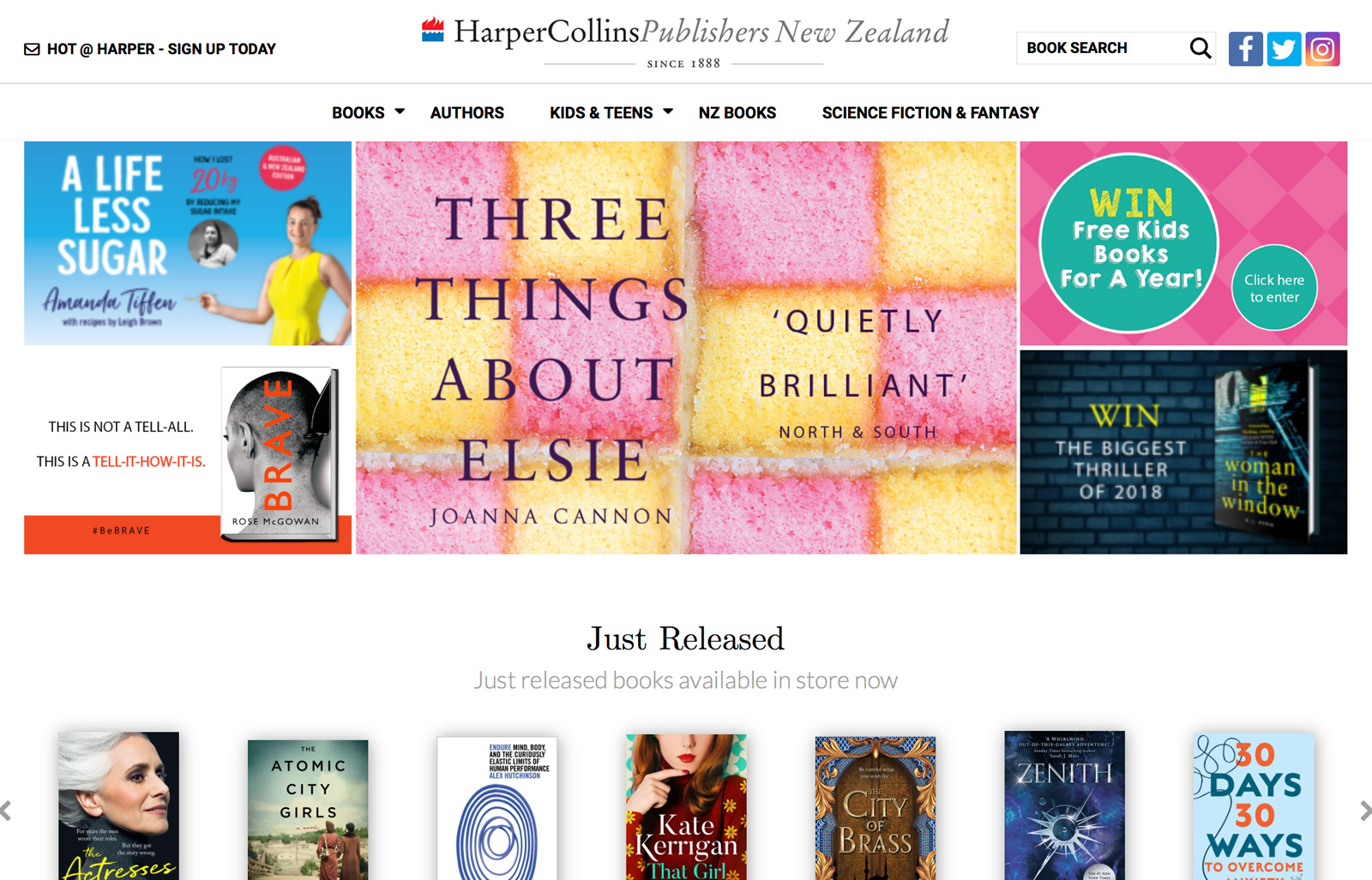 HarperCollins NZ are striding forward with a new site launch following in the footsteps of their sister companies in the USA and UK.