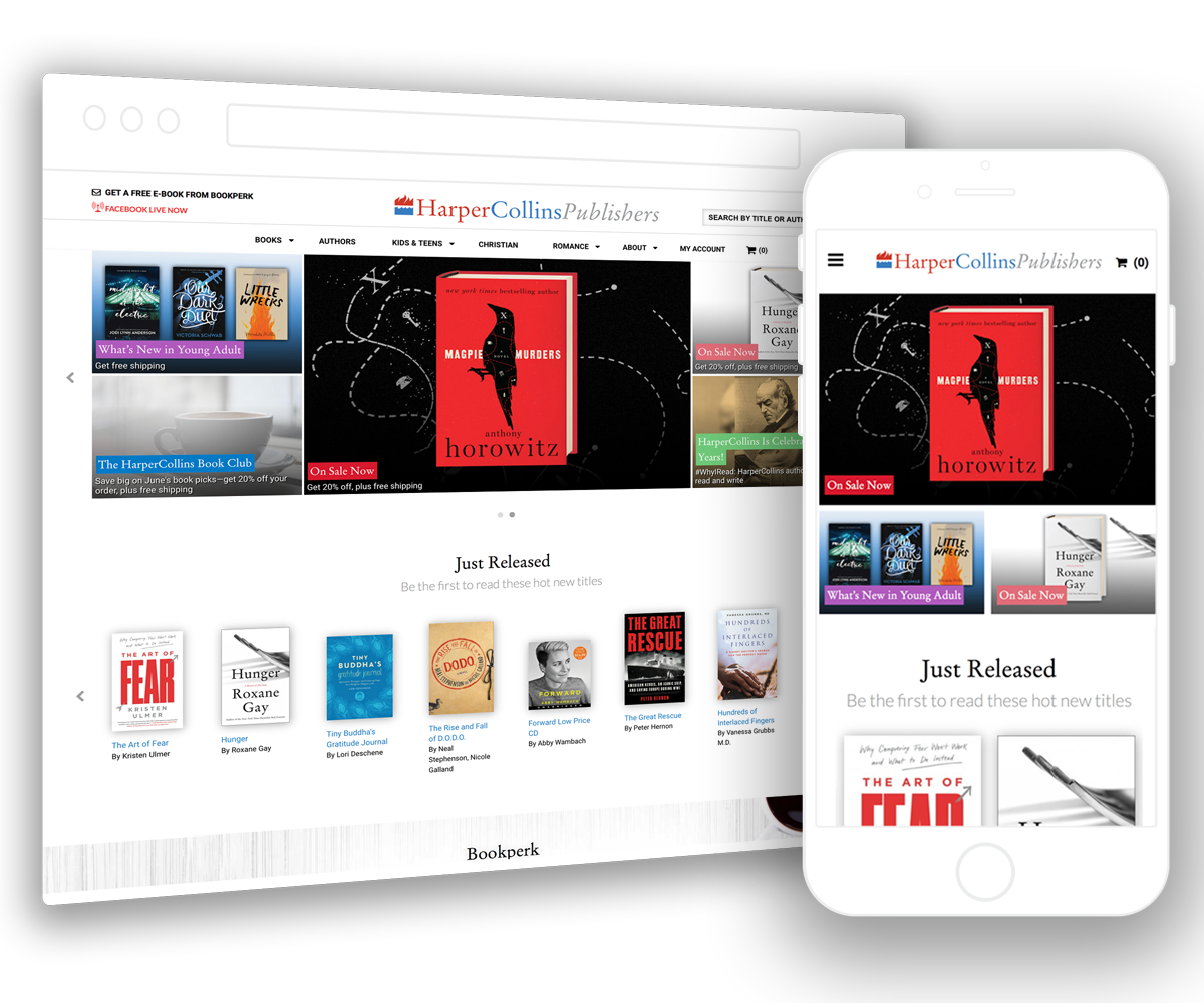 HarperCollins take their site to the next level with Supafolio's new site search