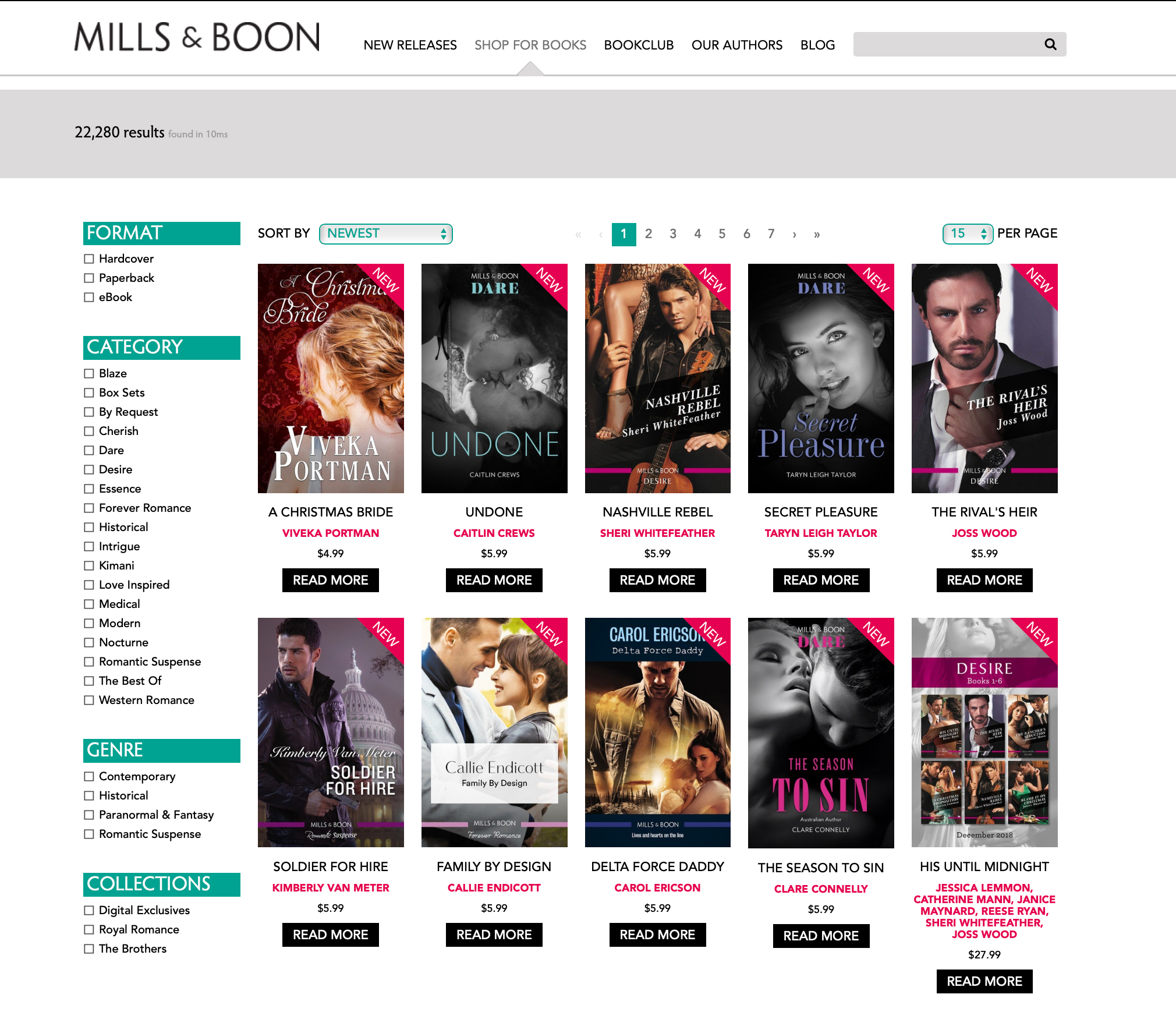 Shopify for Mills & Boon