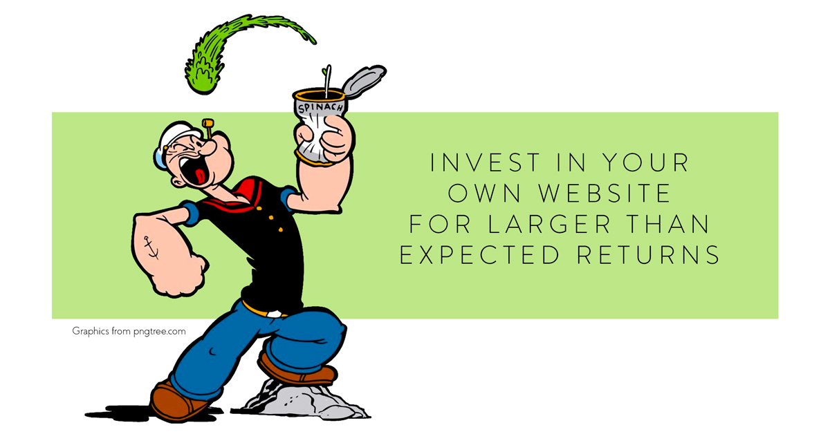 Invest in your own website for larger than expected returns