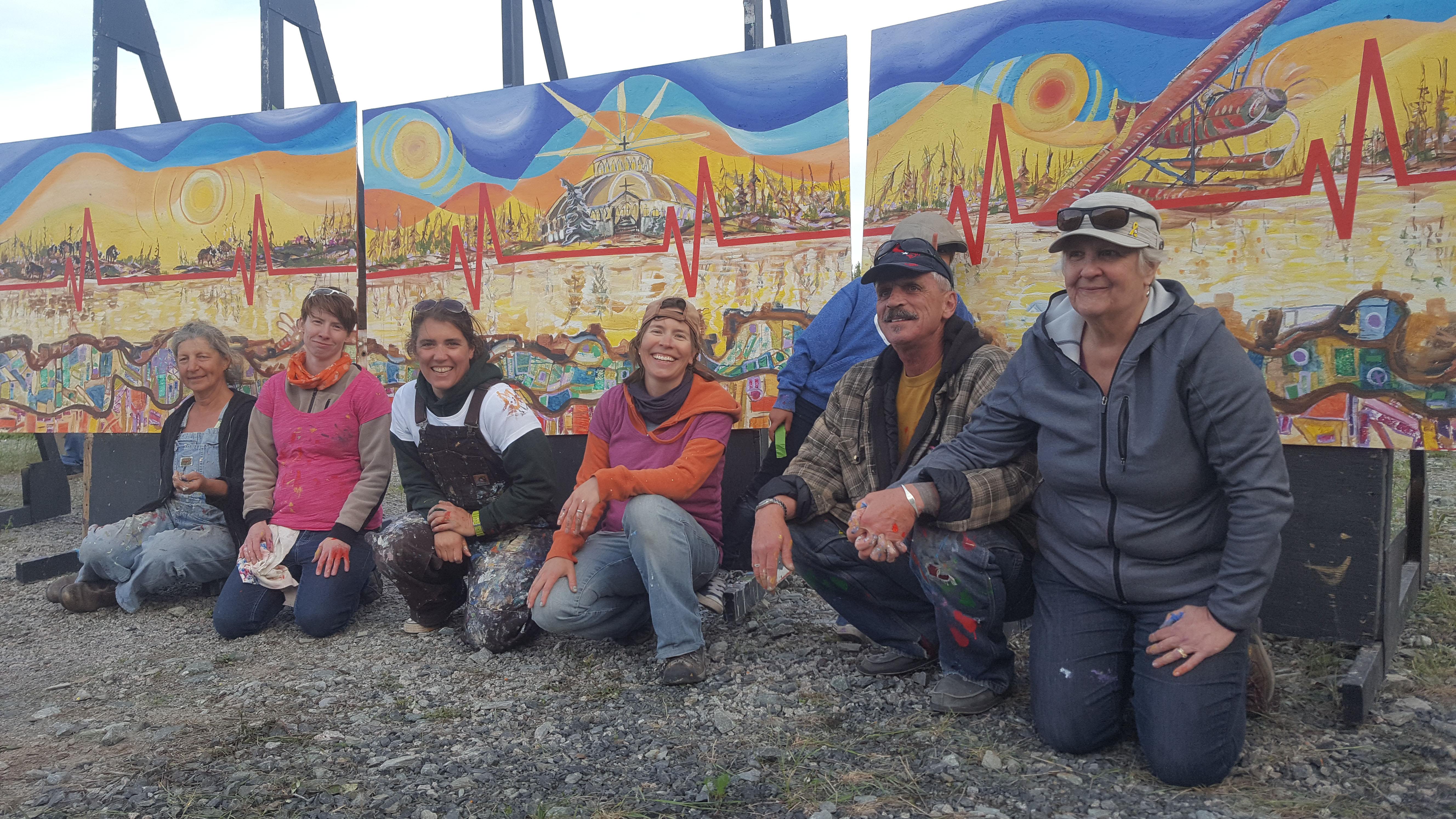 Group photo of BAM (Borderless Art Movement).