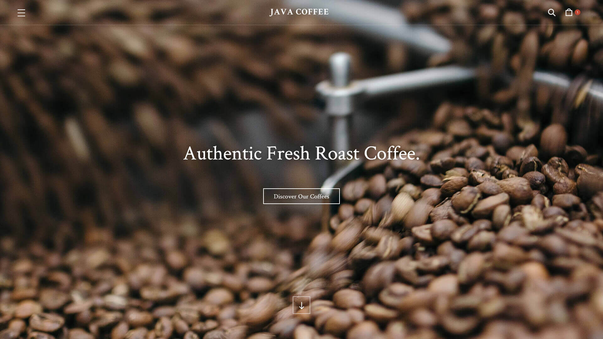java coffee roastery and coffee shop template