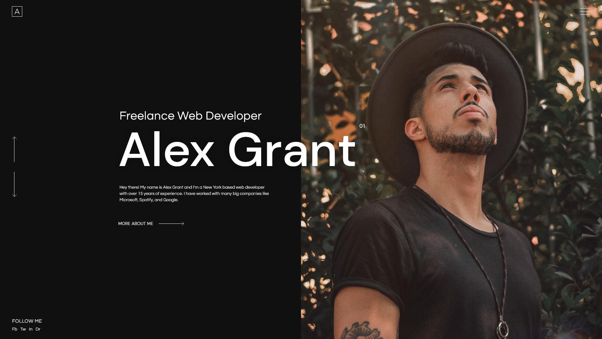 alex portfolio template