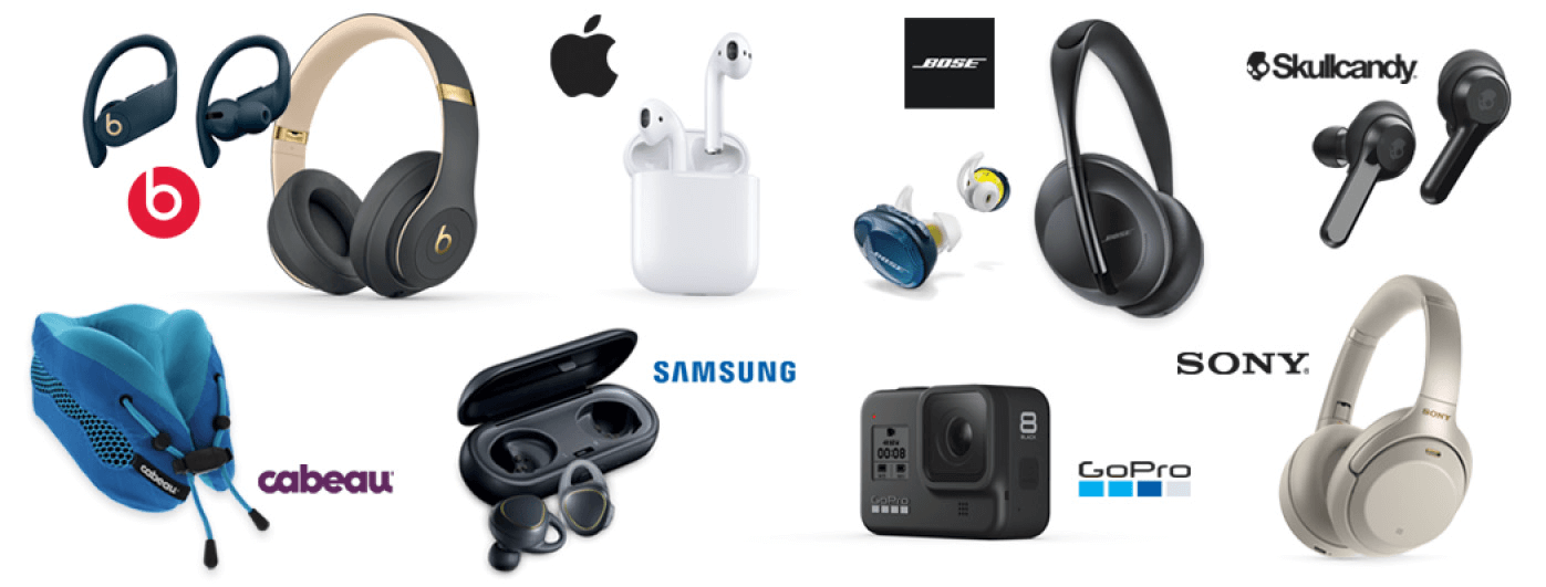 Featured Brands of InMotion including Apple, Beats, JBL, and more.