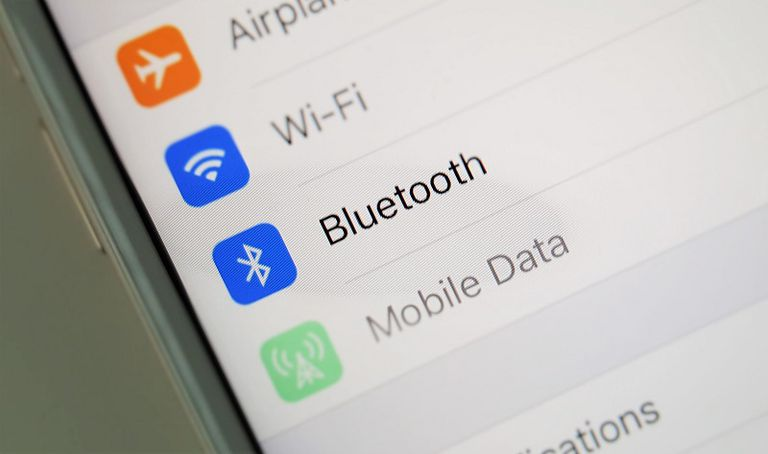 bluetooth in iOS settings menu