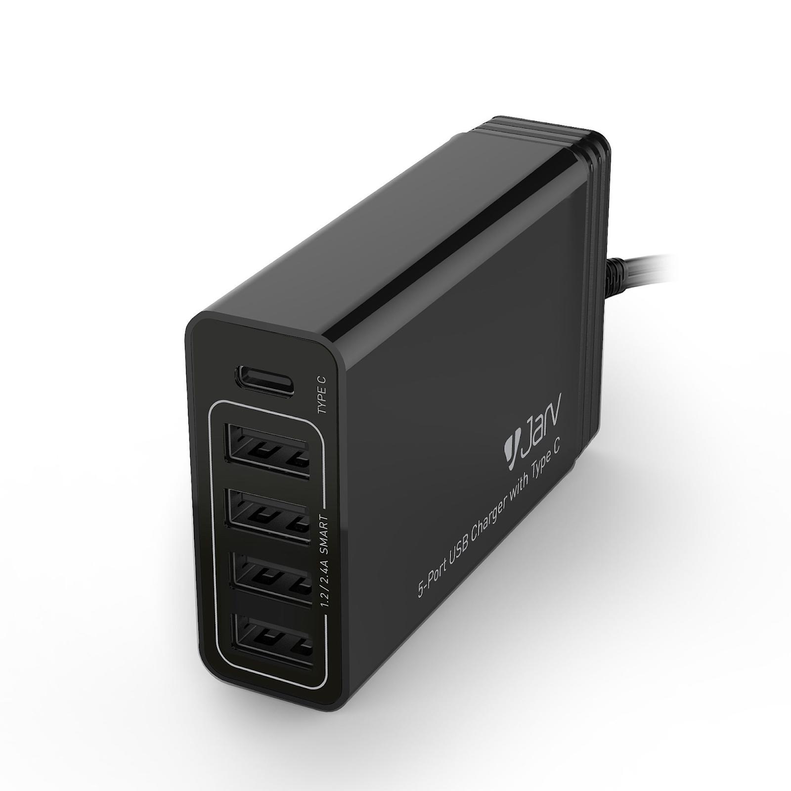 Jarv 40W 5-Port USB Charger