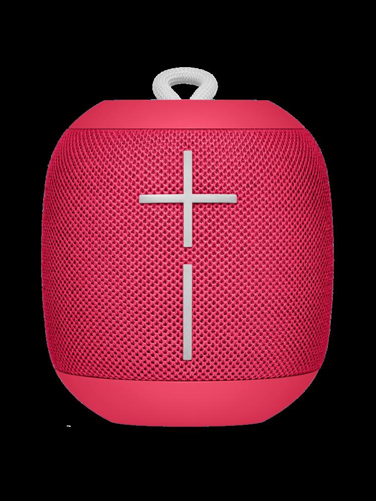 red Ultimate Ears Wonderboom speaker