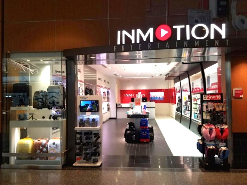 inmotion entertainment airport storefront