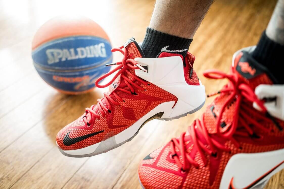 feet and a basketball