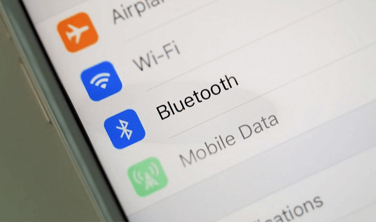 bluetooth in iOS settings menu
