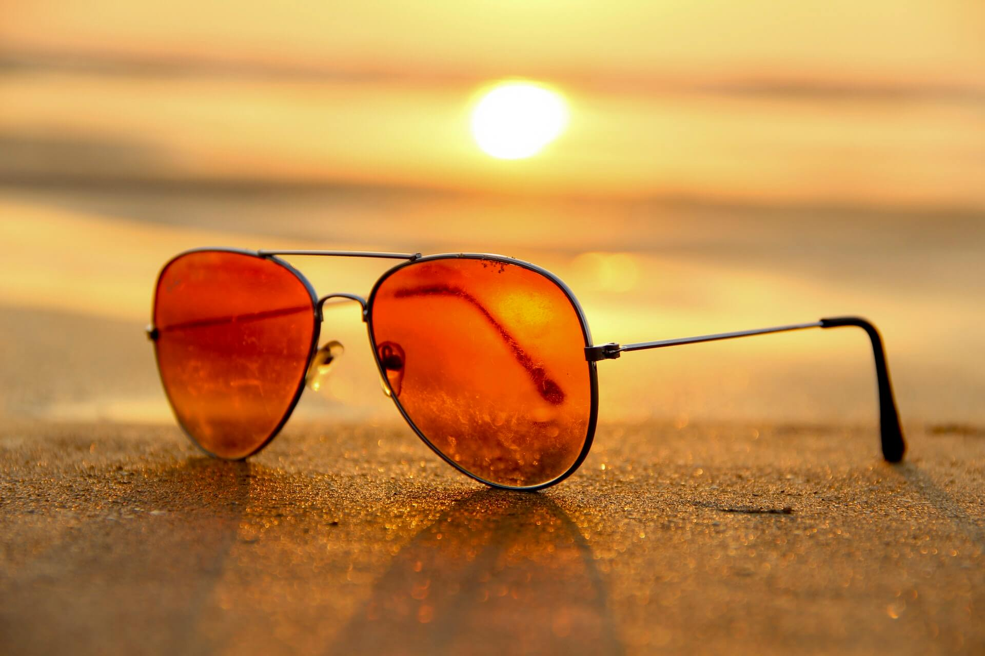Summer sunset & sunglasses