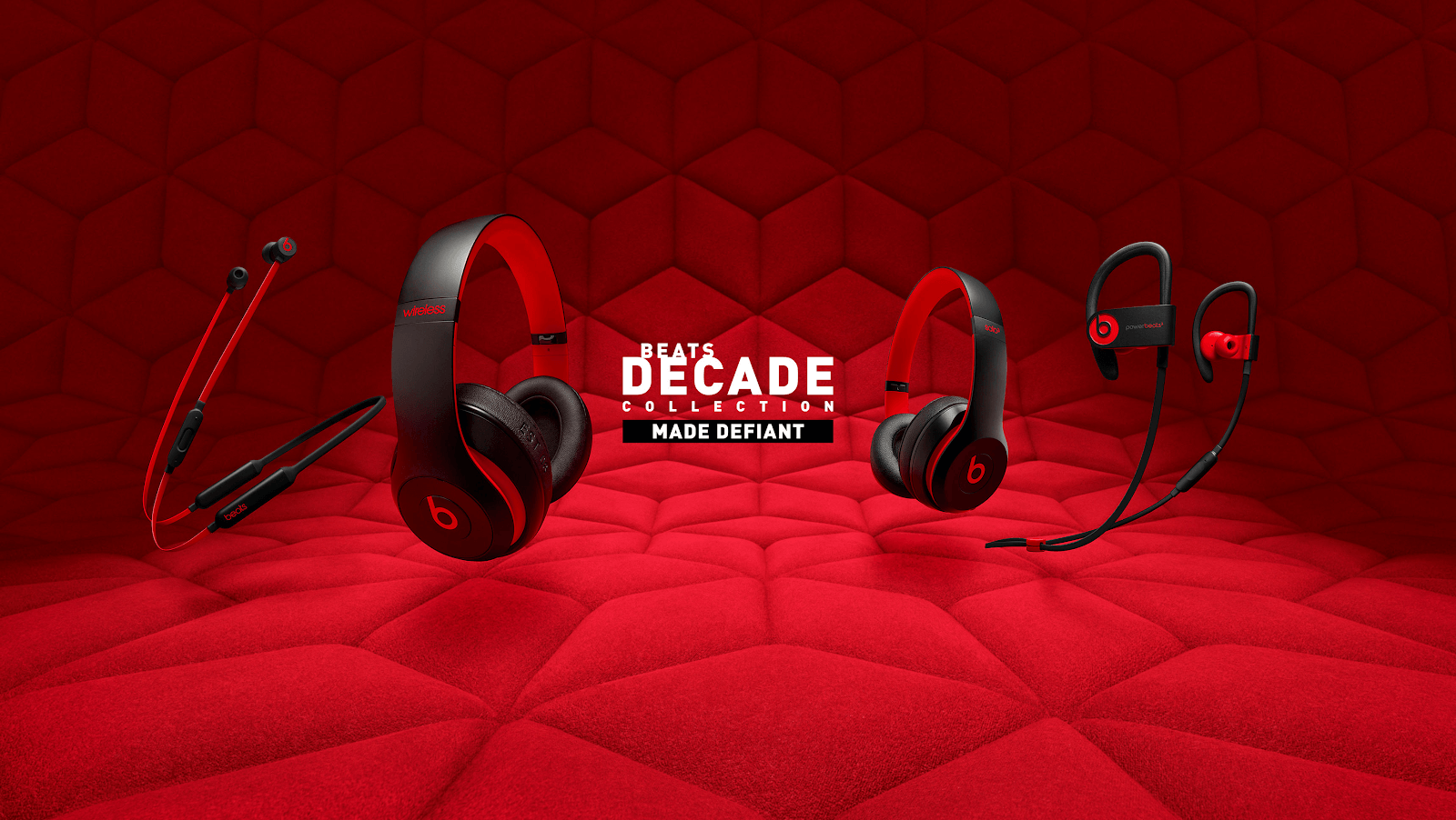 red Beats by Dre wireless headphone collection