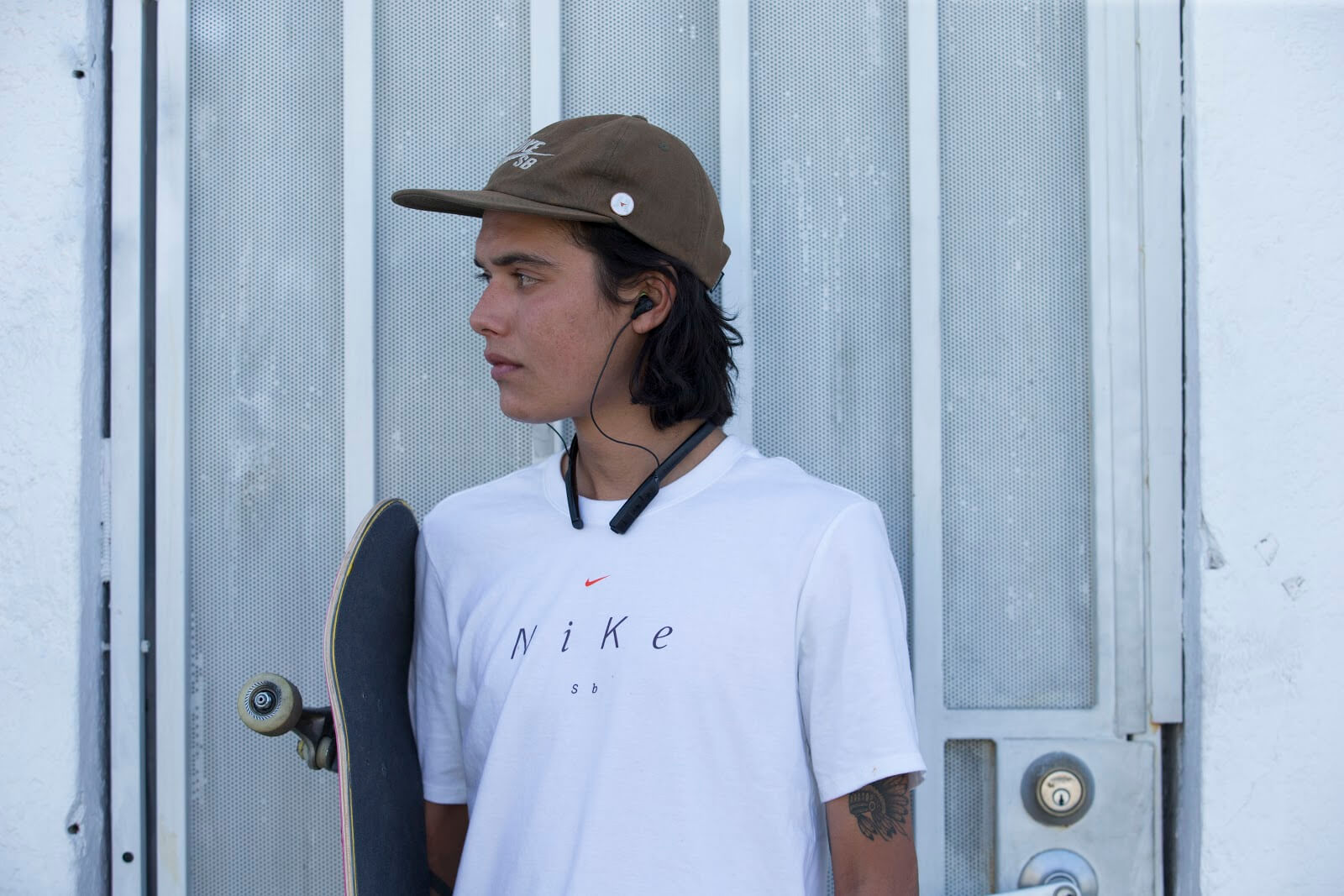 skater wearing Method Bluetooth Wireless Sport Earbuds