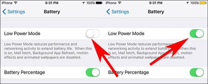 Save Battery iPhone