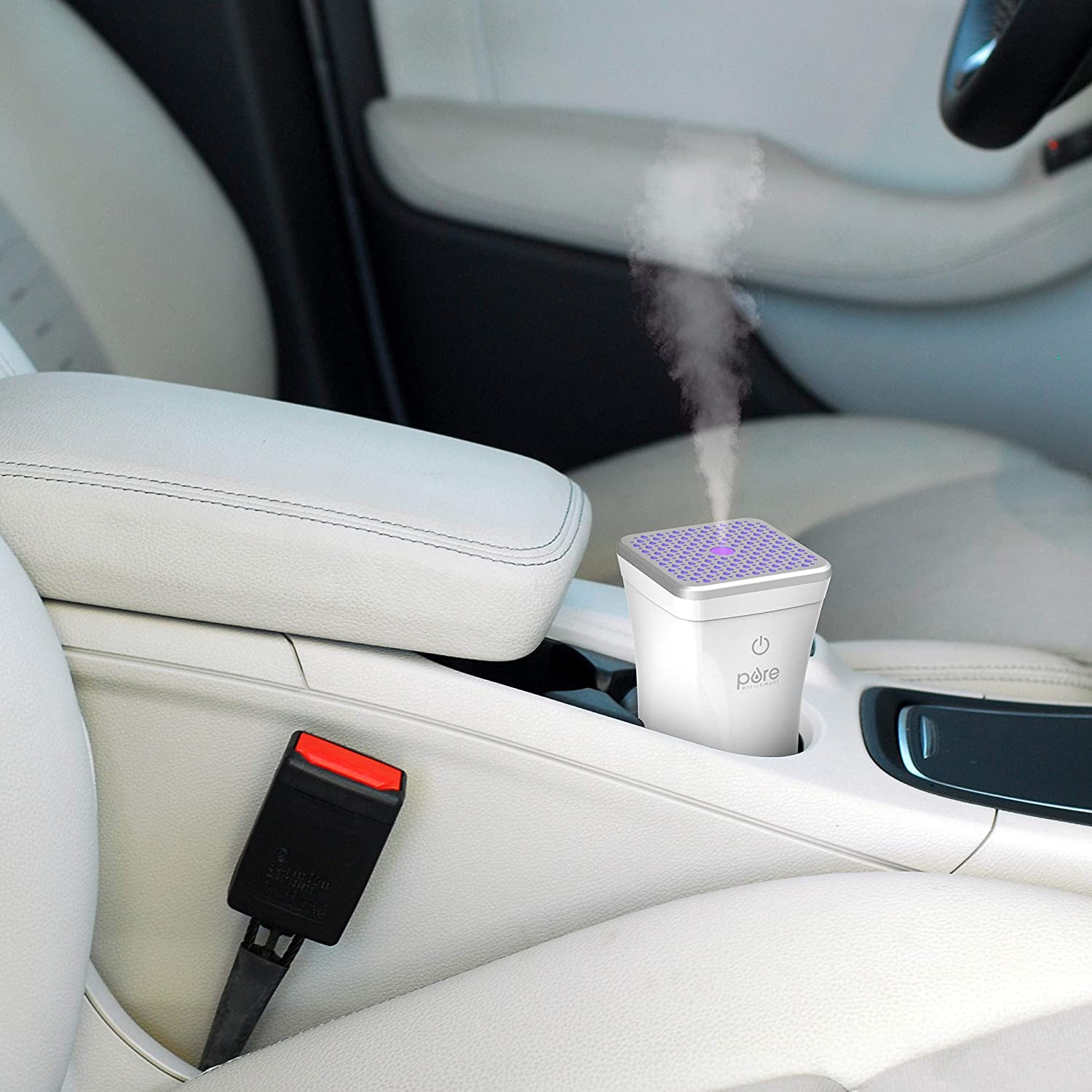 portable air diffuser inside car