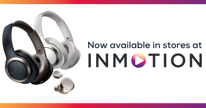 """Image of Cleer Headphones, """"Now available in stores at InMotion"""""""