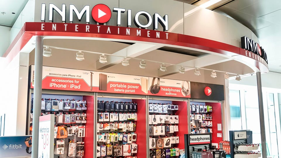 Miami International Airport, Inmotion Entertainment, wireless device, accessories store