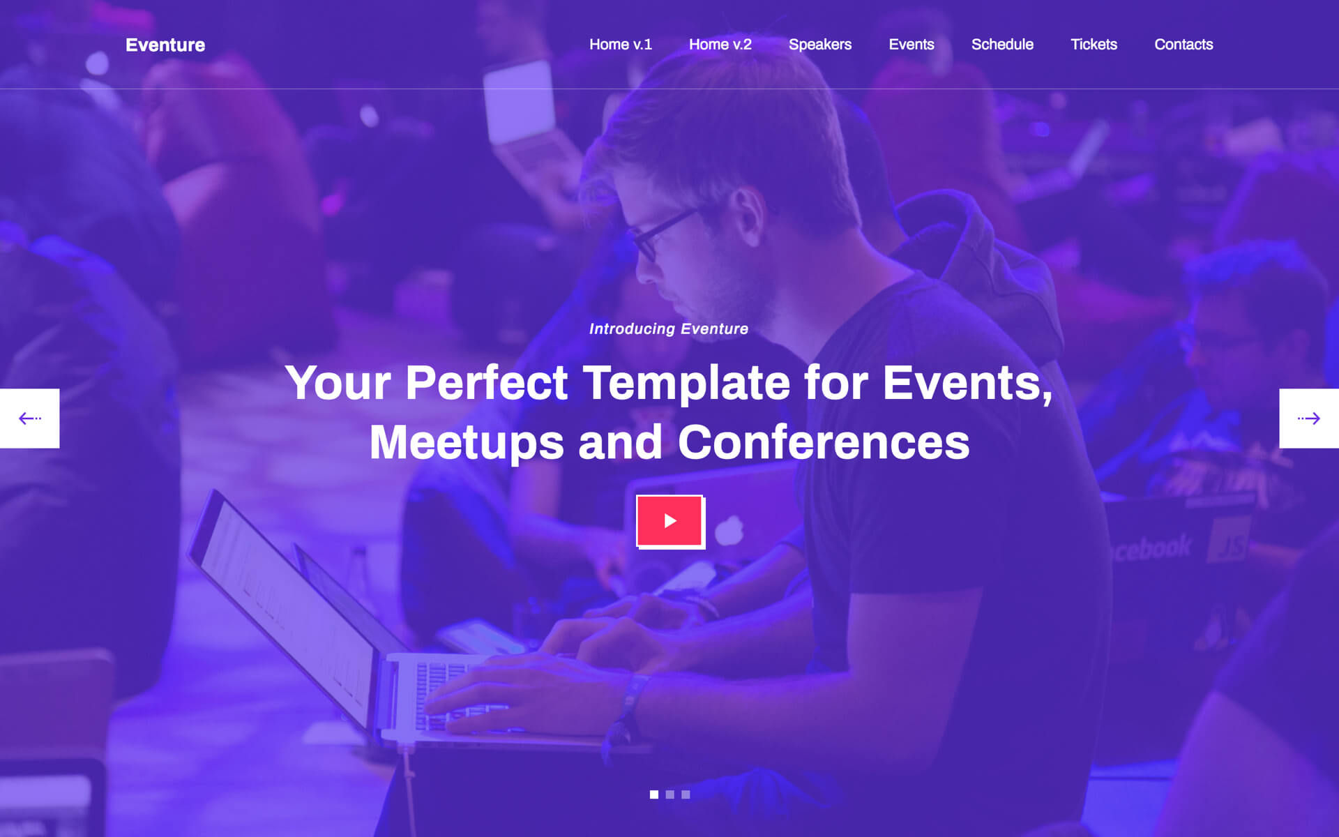 Eventure — Event Website Template by Elastic Themes