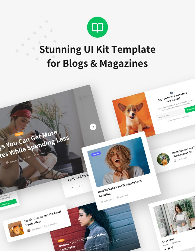 Maker — UI Kit Webflow Template by Elastic Themes