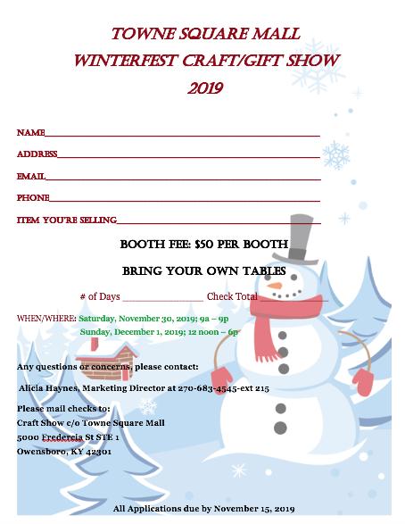 2019 Winterfest Craft/Vendor Show