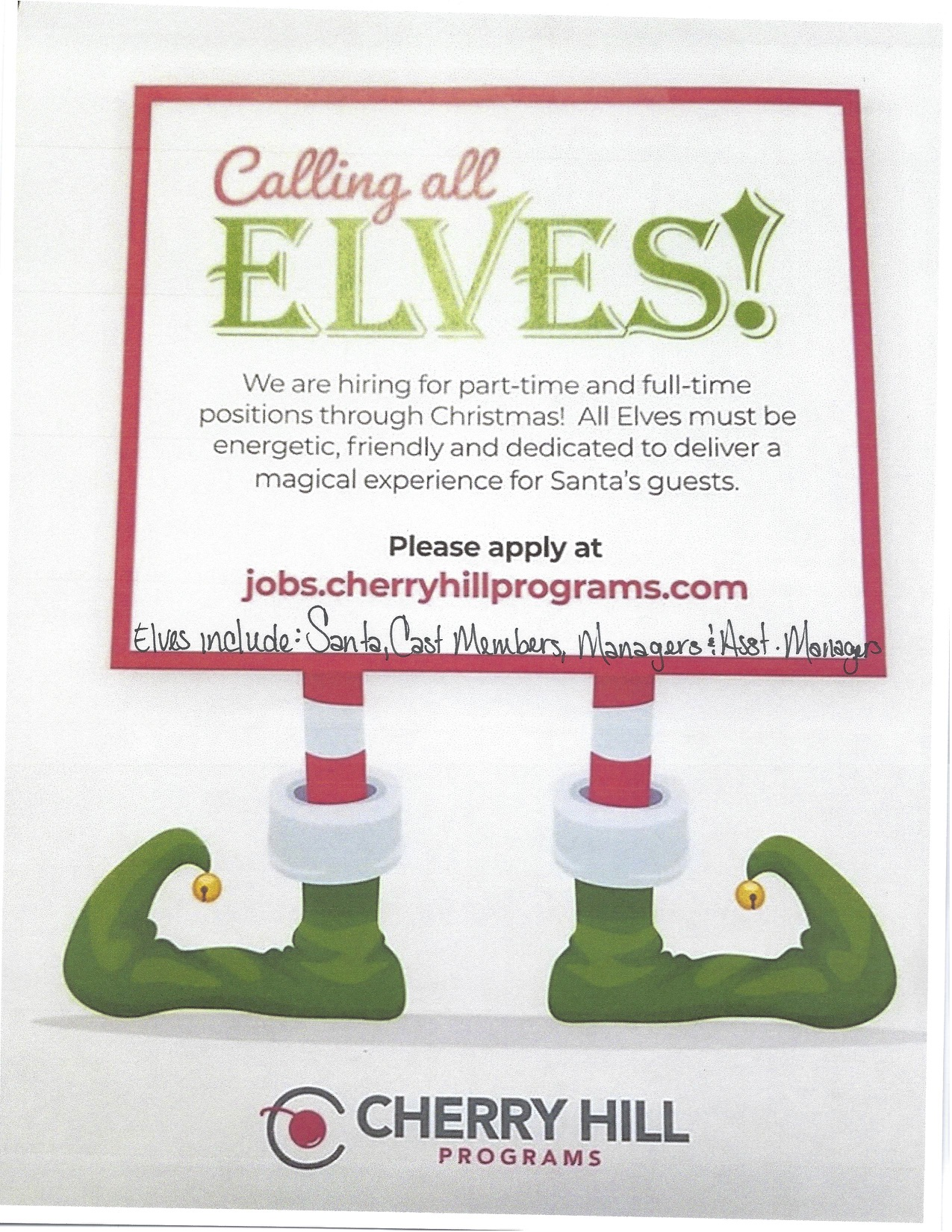 elves needed for Towne Square Mall