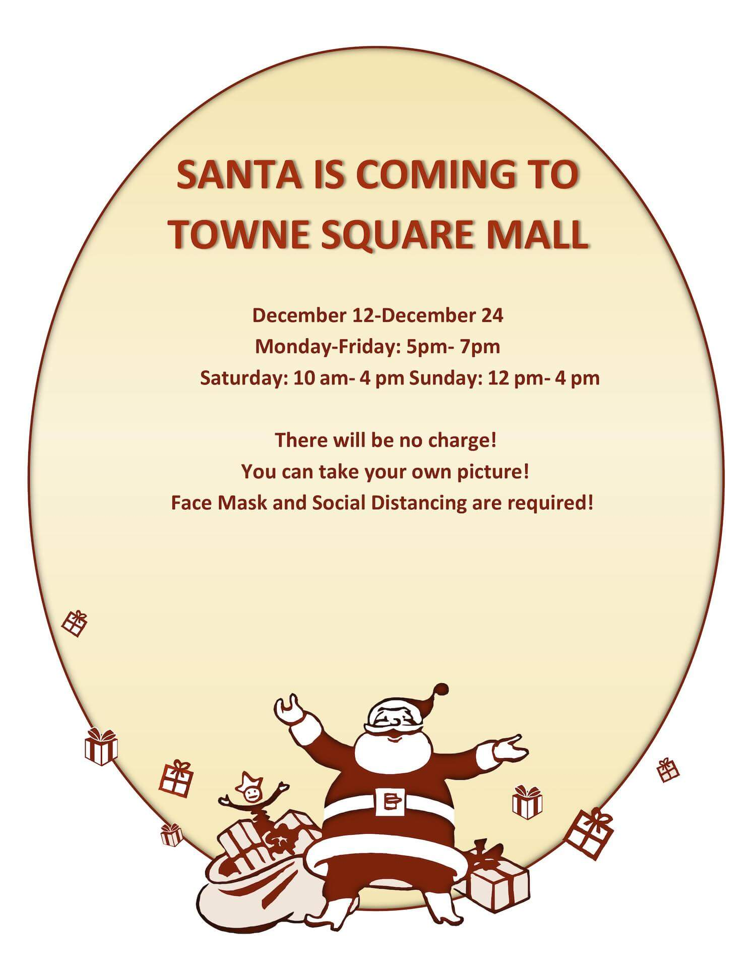 Santa is coming to Towne Square Mall