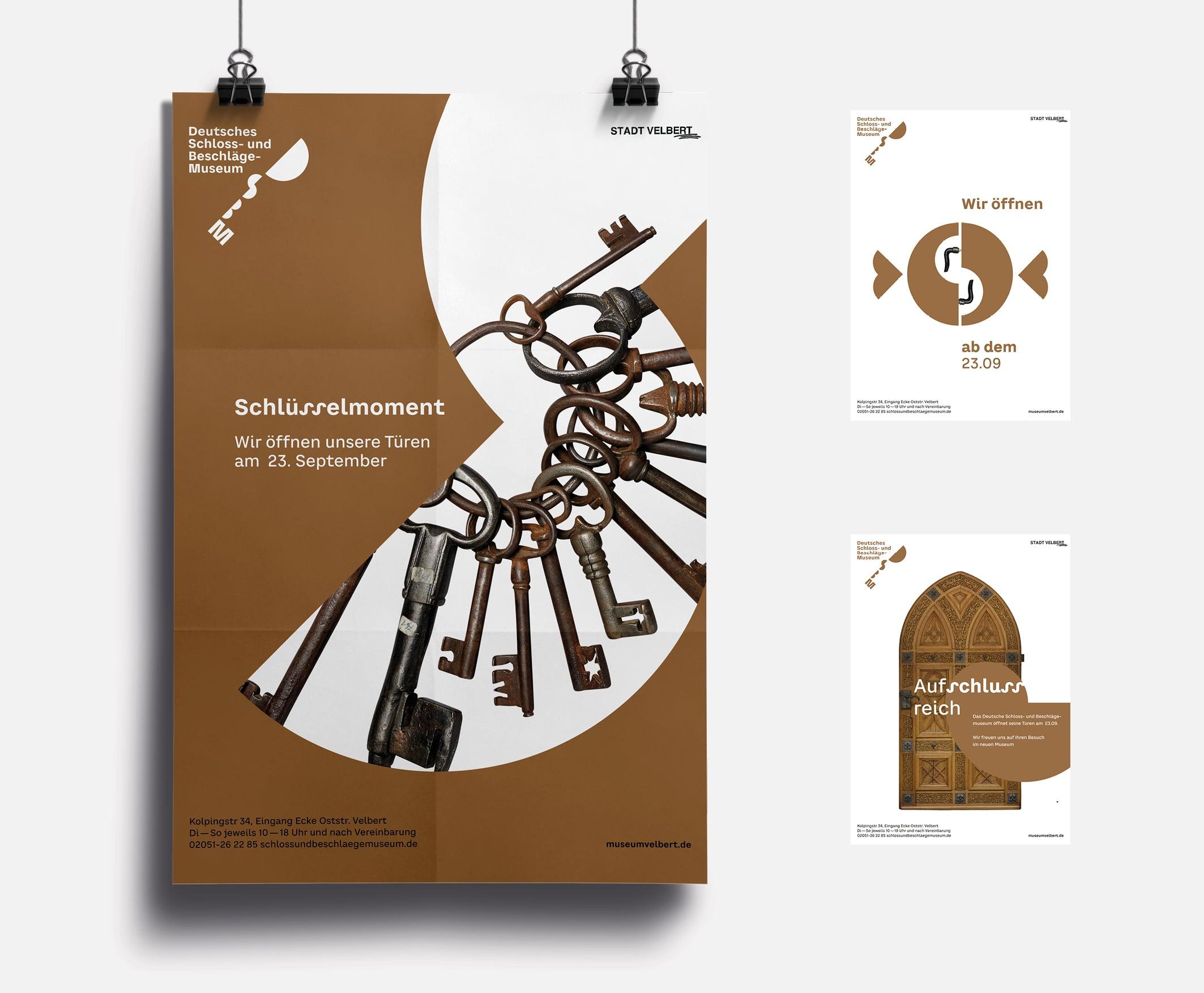 Plakatserie zur Eröffnung (Entwurf)