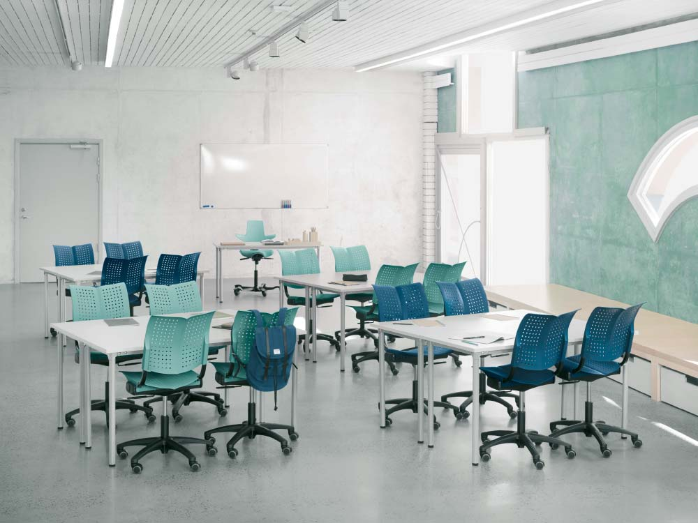 Clean school classroom
