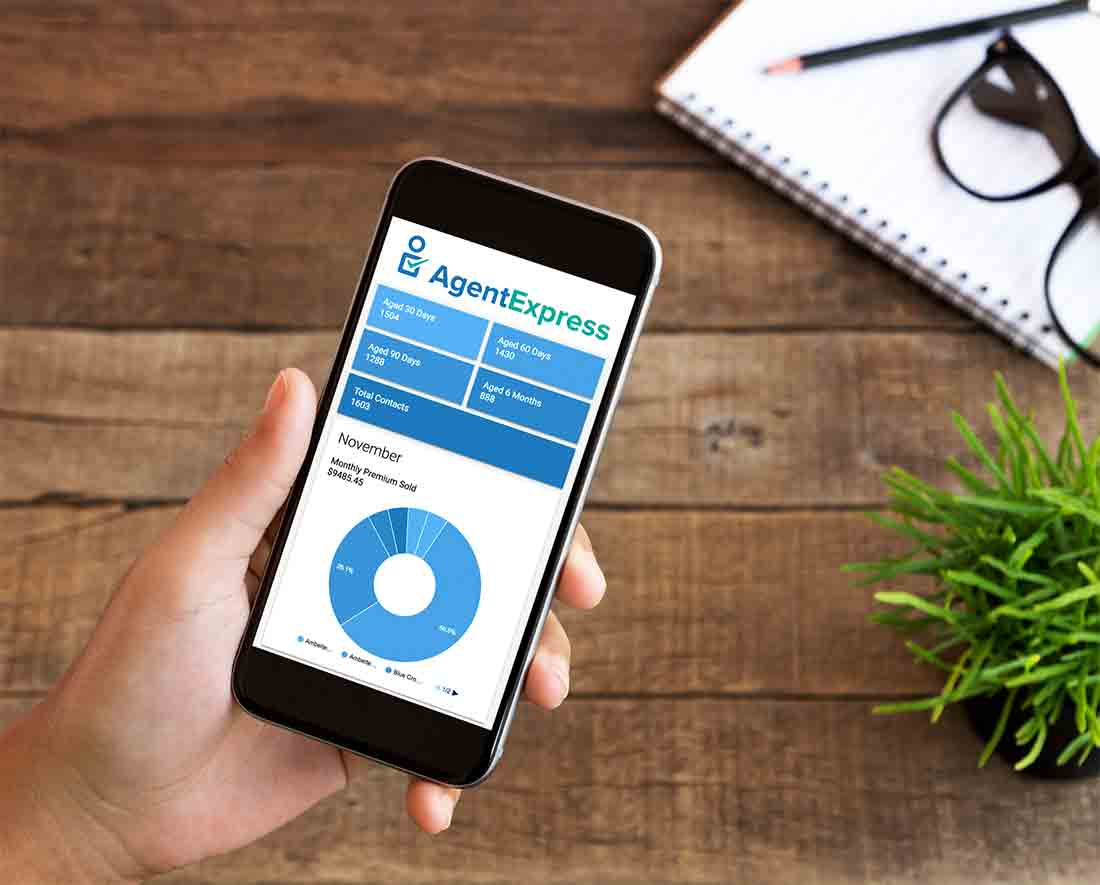 AgentExpress enrollment platform mobile view Iphone & Android