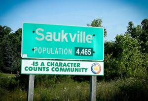 Saukville sign