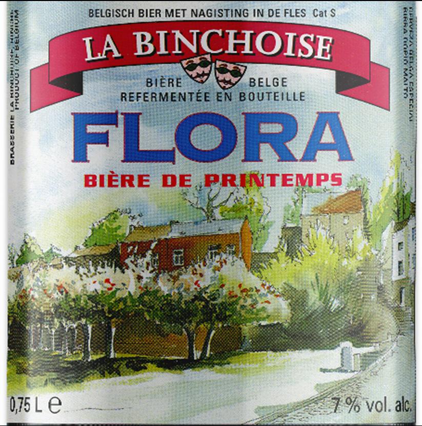 Etiquette La Binchoise Flora