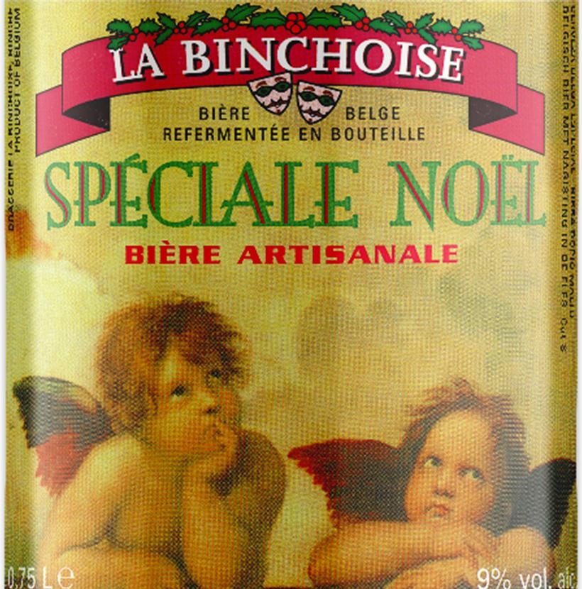 Etiquette La Binchoise Spéciale Noël
