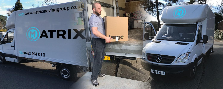 Man loading van image