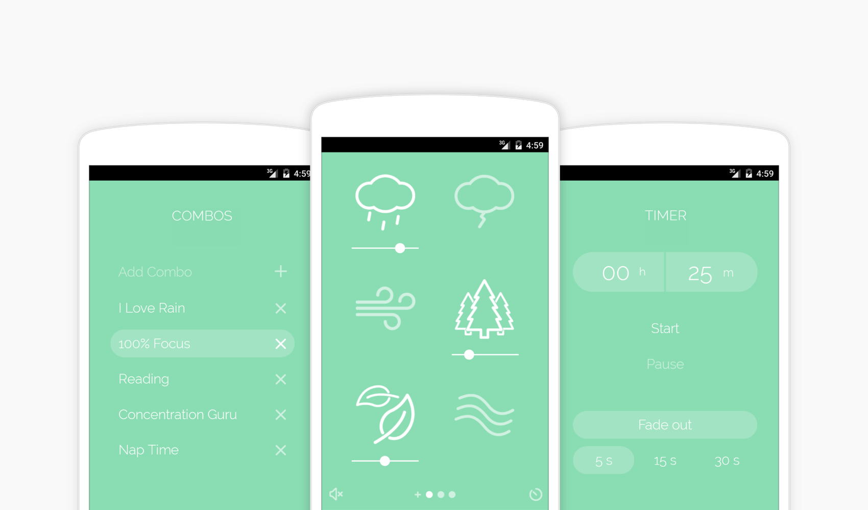 Application de musique Noisli pour augmenter sa concentration