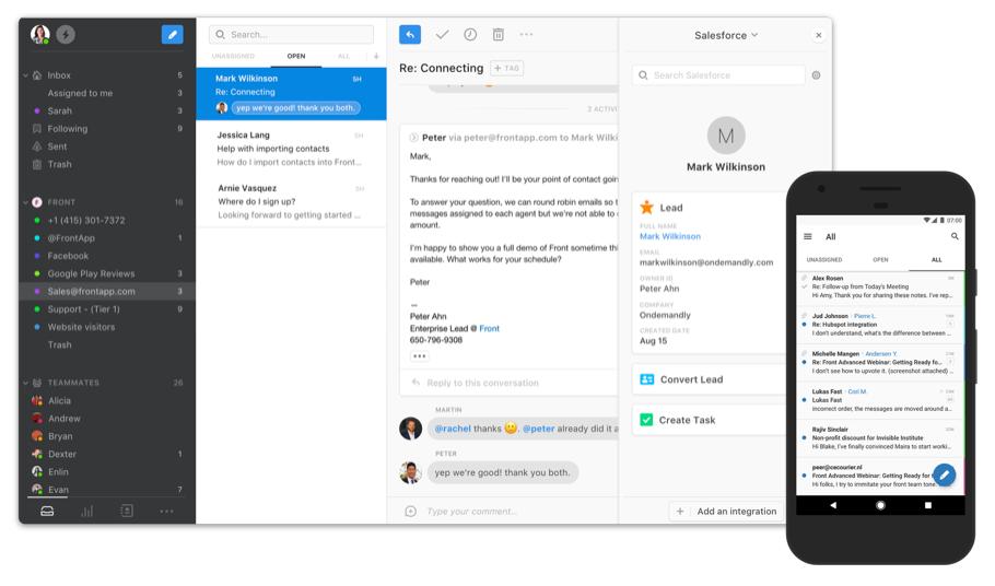 Front, outil de communication interne et de gestion des mails