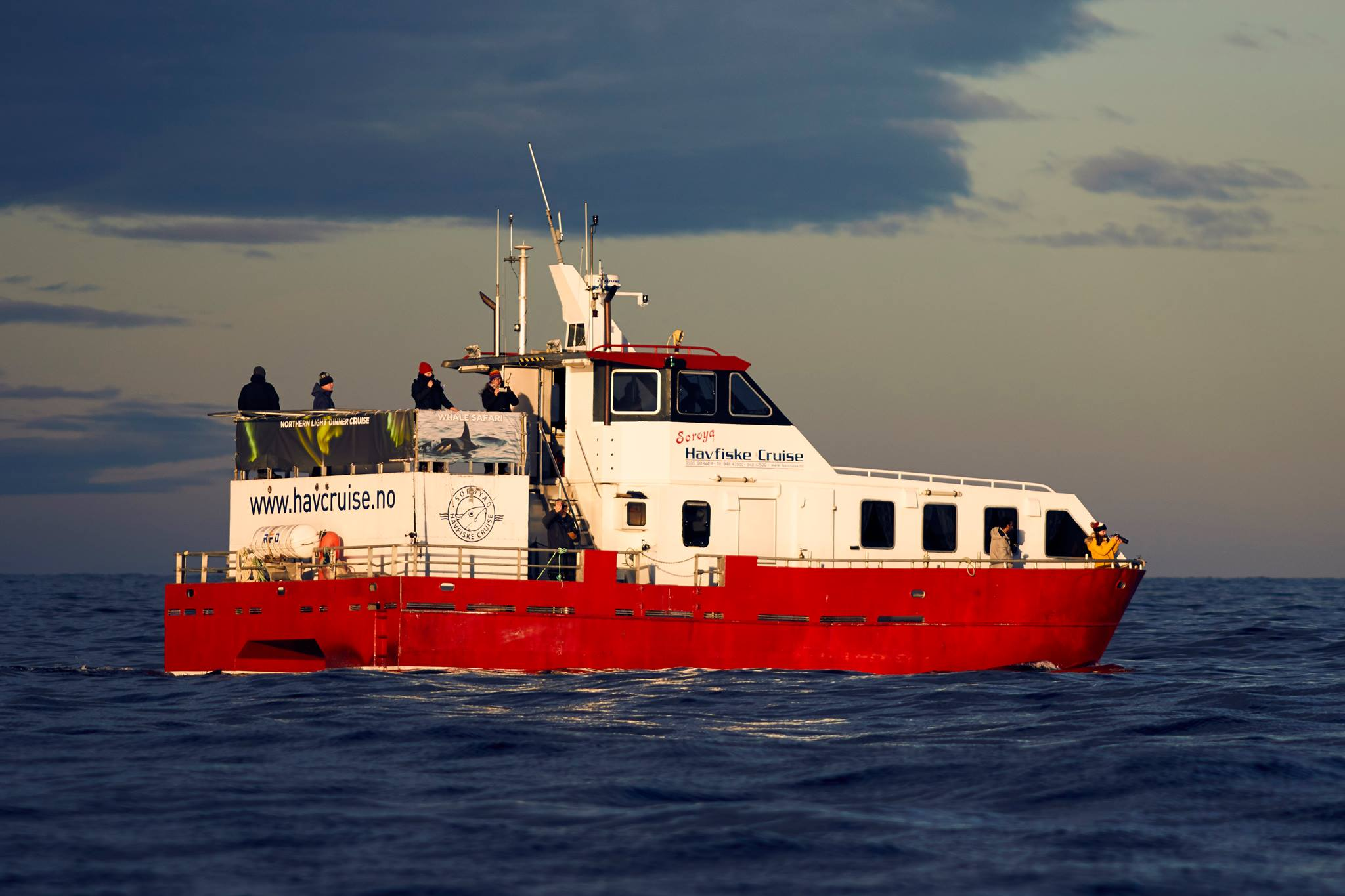 Blålys cruise rundt Tromsøya