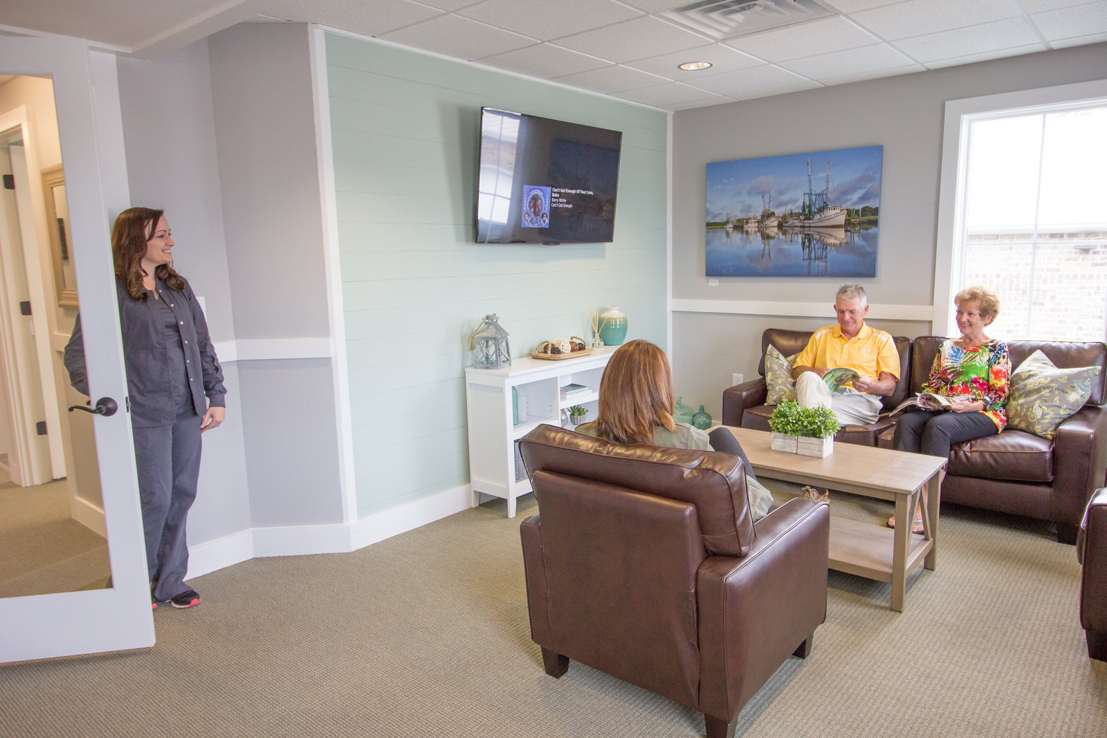 Patients in the waiting room