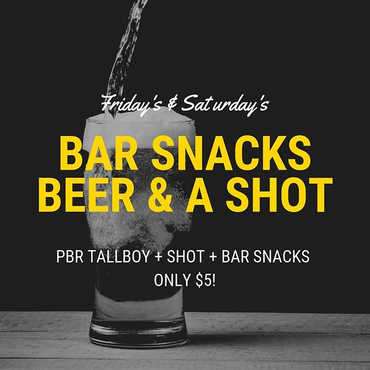 Bar Snacks - Beer & a Shot!