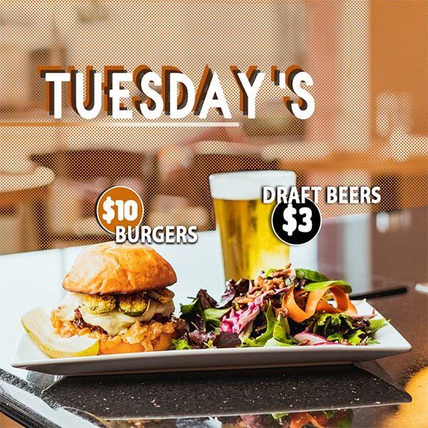 10$ Burgers and 3$ Draft Beers