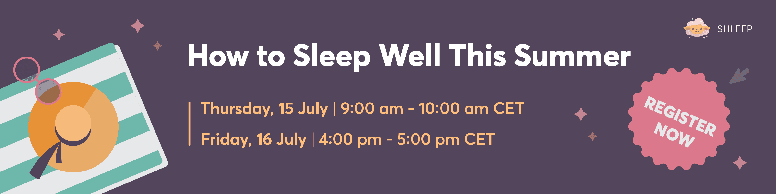 how to sleep well this summer
