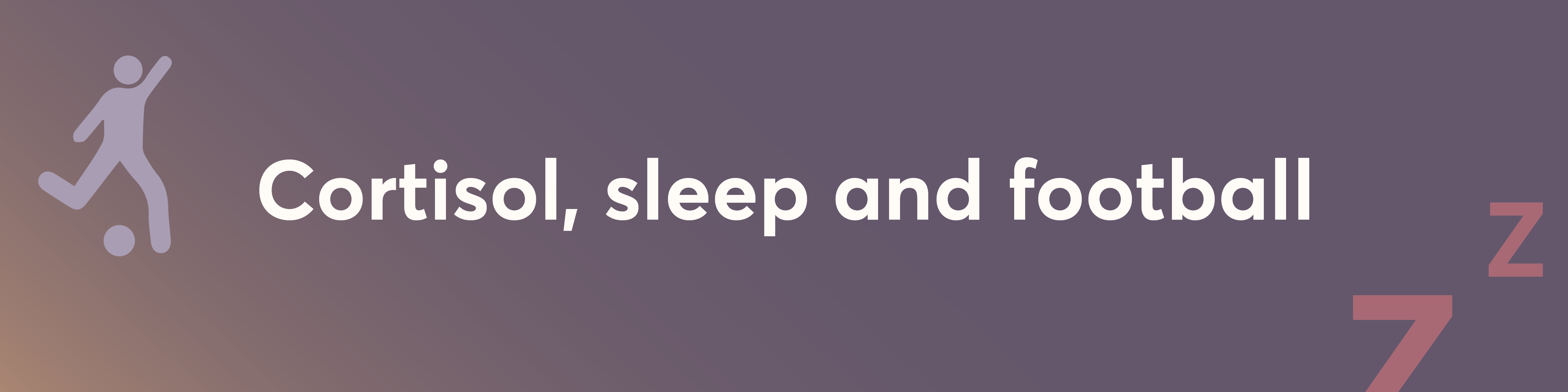 football, stress and sleep