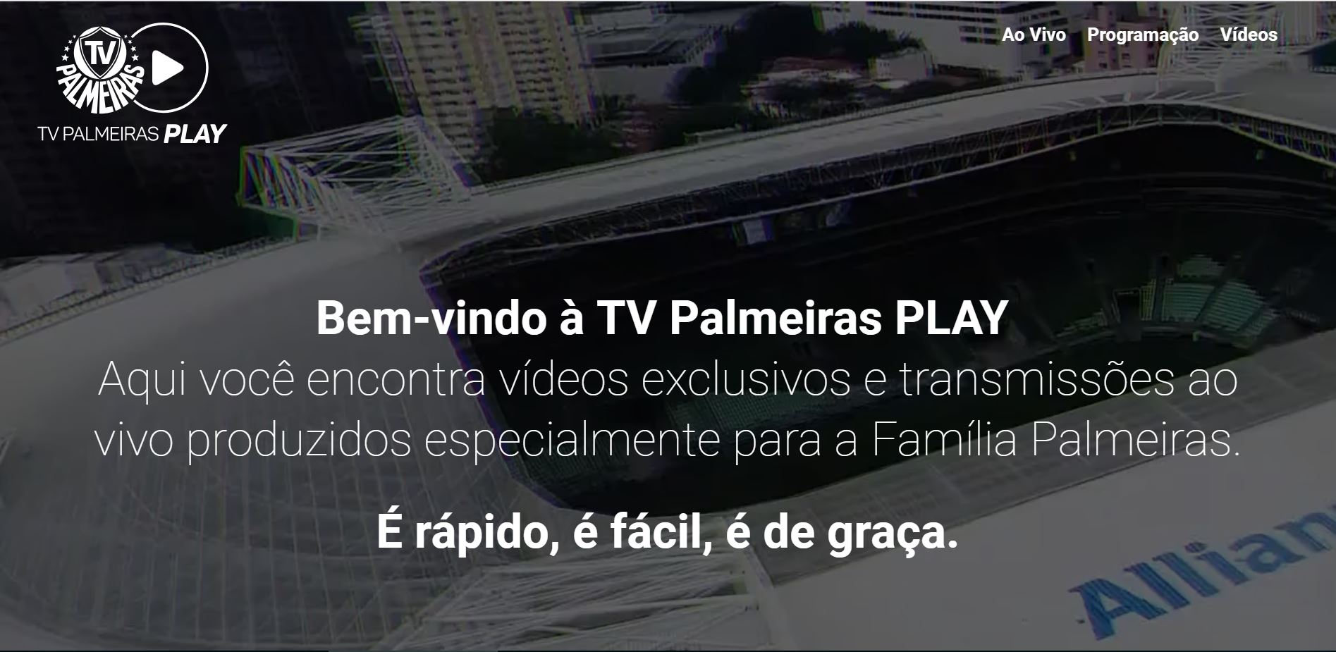 screen capture tv palmeiras play homepage