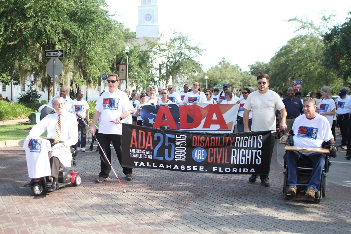 A parade for Americans Disabilities Act.