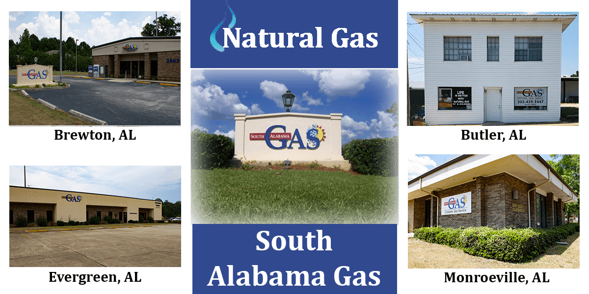 A picture of S.A.G. Natural Gas Locations.