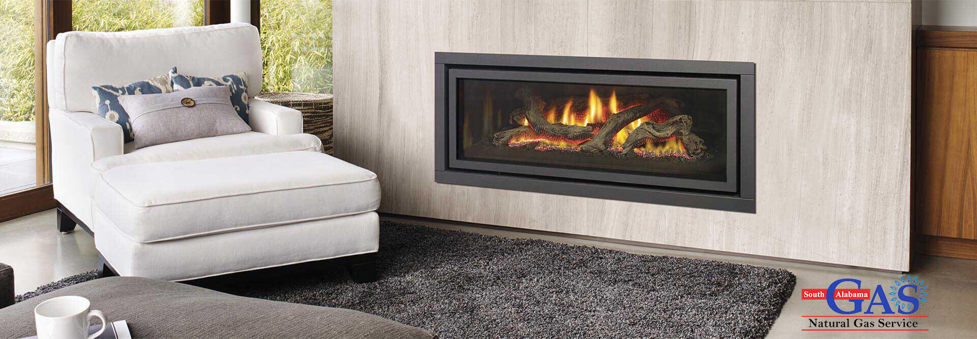 Comfy Natural Gas Fire Place