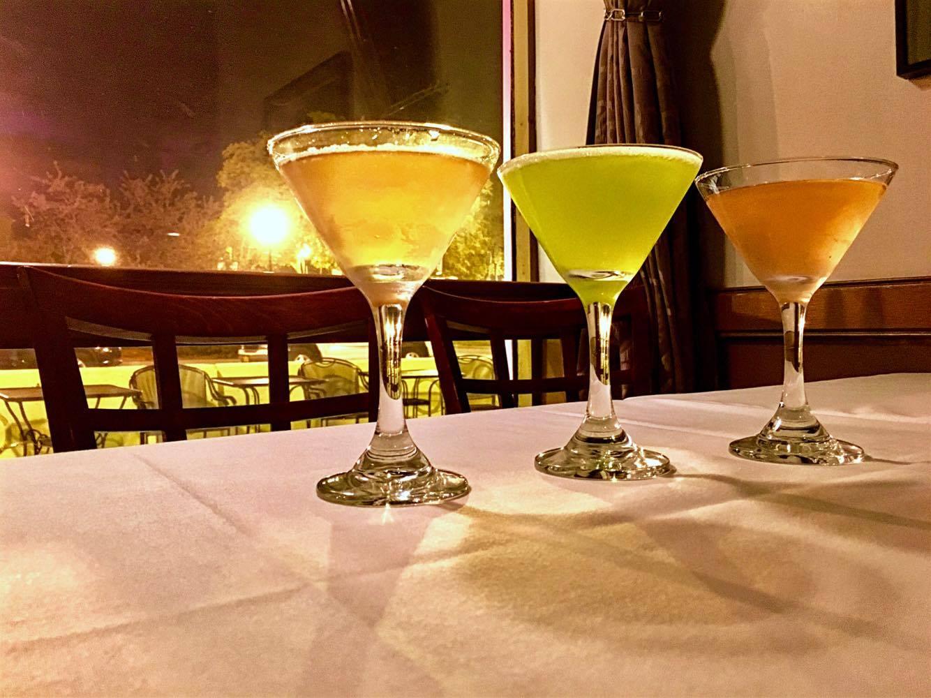 Black One Size Neck Tie Parquet Mens Martini Cocktail Glasses Drink Necktie