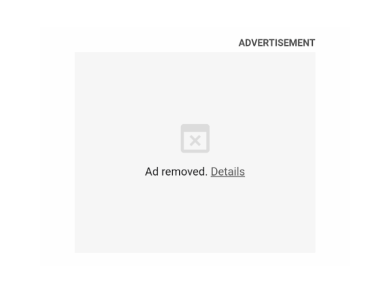 Ad Intervention Screenshot