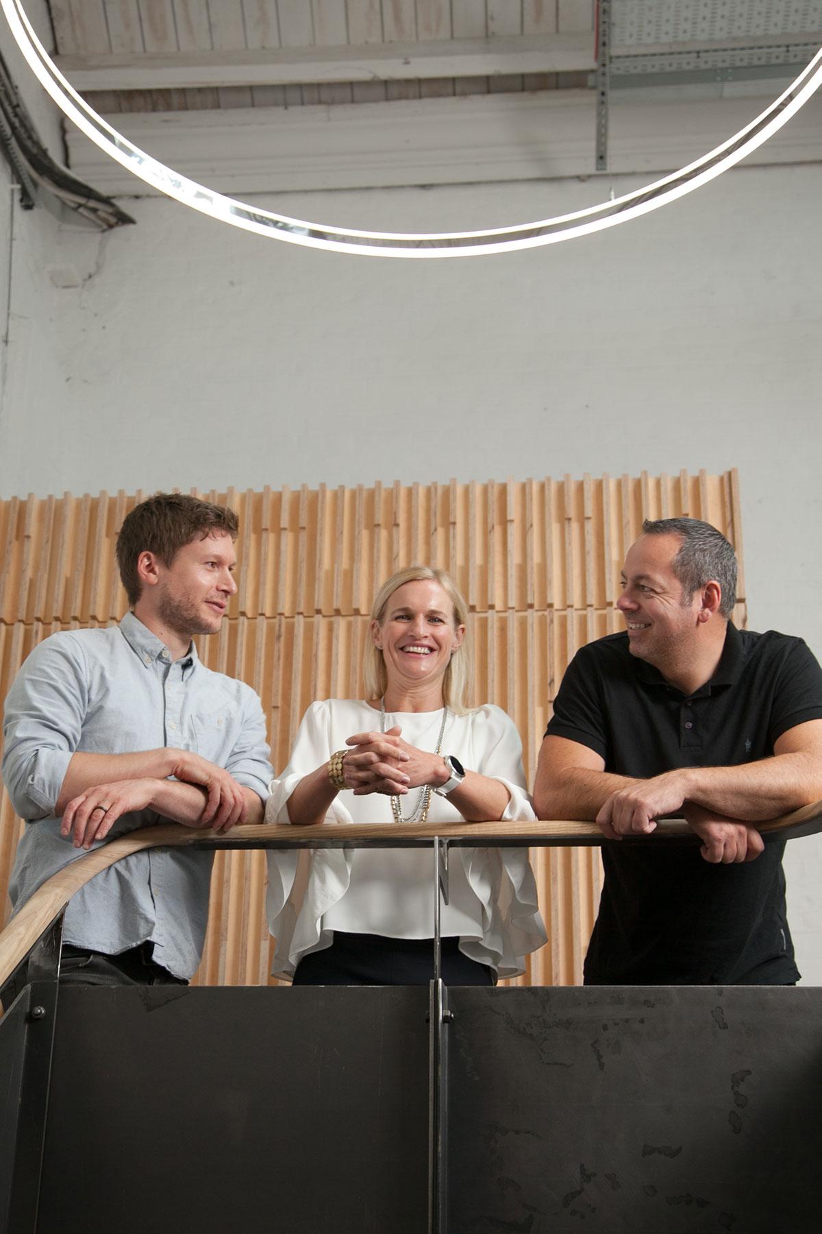 Bravedog design team at the workshed in swindon
